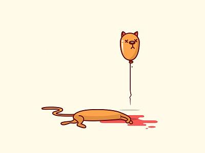 Cat Balloon  illustration digital vector party cat balloon
