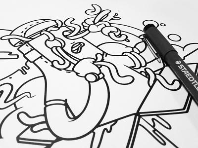Early Bird (Line)  illustration worms intense staedtler