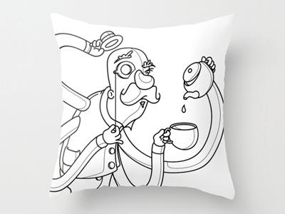 Smashing - Pillow Design illustration digital vector party drugs intense colour hands tea
