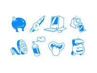 Illustrative Icons for Web
