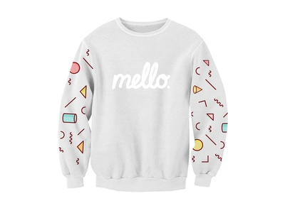 Mello. Pullover fashion design sweater pattern drawing draw sketchbook sketch illustration
