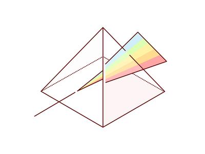 Delegation  geometric illustration prism