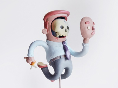 Facelift (Art Toy) toy sclupy clay