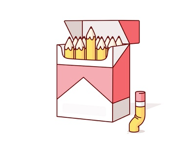 Contents may cause creativity  smoking cigarettes geometry shapes illustration