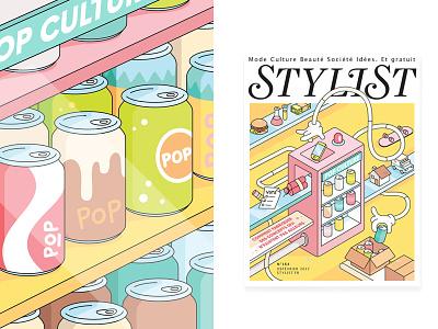 Stylist Magazine  editorial pop culture fashion icons social stylist illustration
