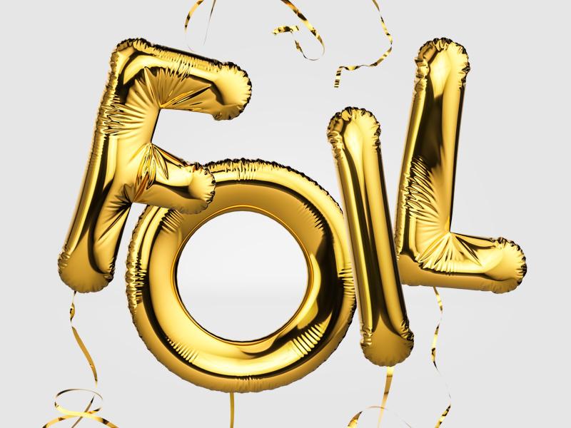 Foil Balloon Letters letters illustration balloon foil 3d