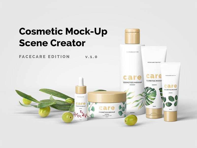 Cosmetic Mockup Scene Creator mockups psd creator cosmetic scene mockup