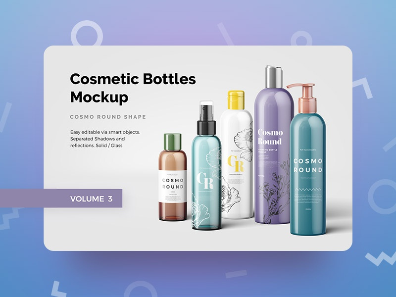 Cosmetic Bottles Mockup Vol.3 cosmetic psd mockup bottles