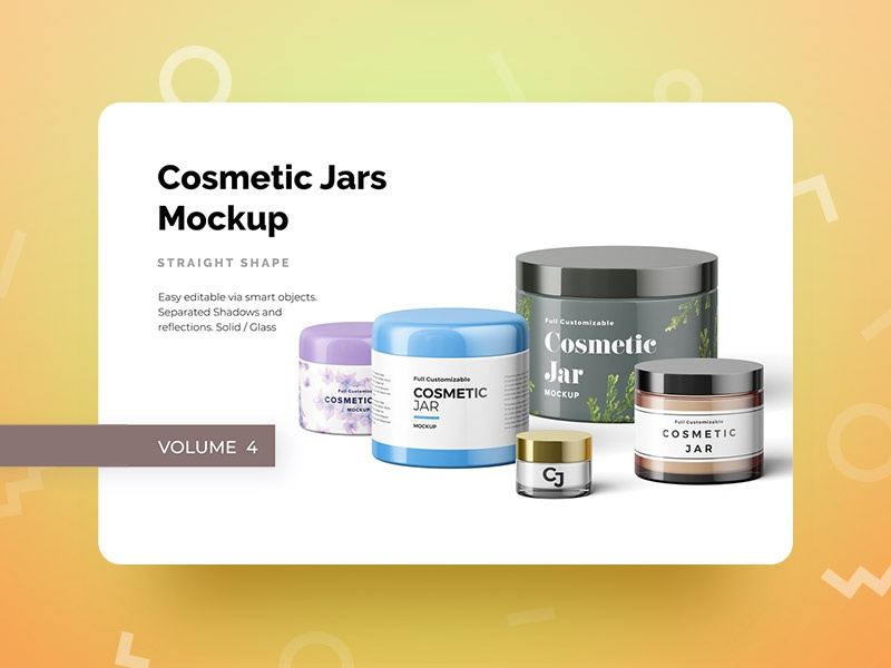 Cosmetic Jars Mockup modal mockup jars cosmetic