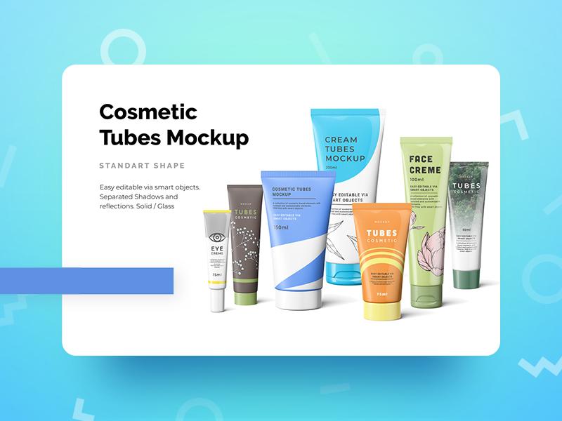 Cosmetic Tubes Mockup cream creme tubes mock-up mockup cosmetic