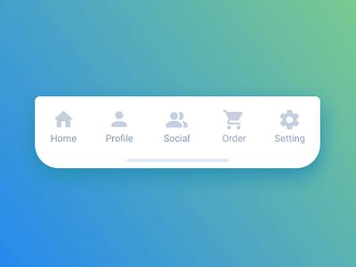 Tab bar switching animation mobile navigation bounce smooth ios motion setting order social profile home gradient ui ux google material icon animation bottom nav bottom bar
