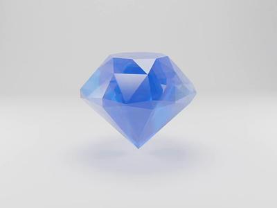 Diamond crystal rotation motion glass render blue gems blender animation 3d animation 3d