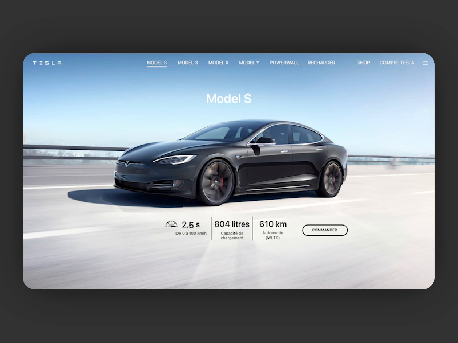 Tesla - Motion website