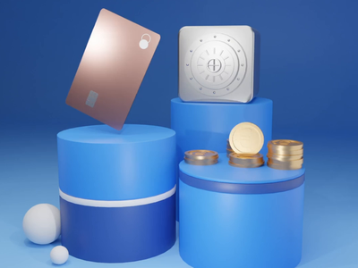 Bank account crypto currency crypto wallet modeling render animations bank blue safebox credit card payment creditcard coinbase coins blender3d 3d illustration design effects animation ui ux