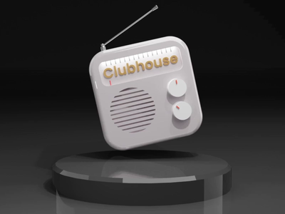 Clubhouse club freeradio radio app blender3d icon clubhouse branding animat 3d design illustration animation ux ui