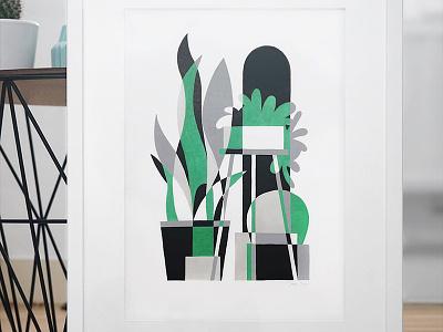 Urban Jungle 10 markers drawing sansevieria cactus plants indoor illustration