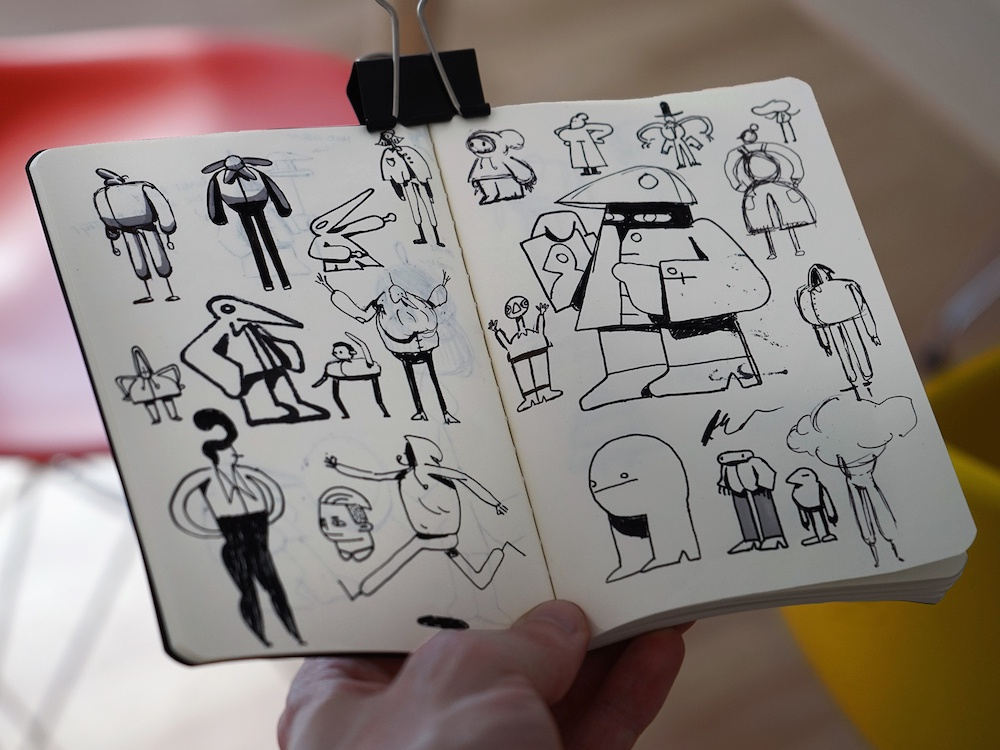 Rough Sketchbook Characters characterdesign doodles sketchbook drawing illustration
