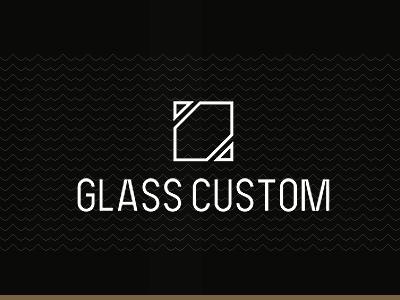 Glass Custom glass ecommerce logotype logo branding web website minimal flat simple mmml