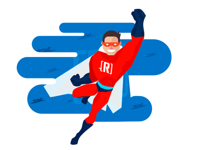 Microsoft Revolution Superhero illustration ms microsoft keyvisual vector revolution hero superhero character