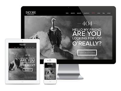 INCORE // Error 404 #1 error 404 incore responsive portfolio agency