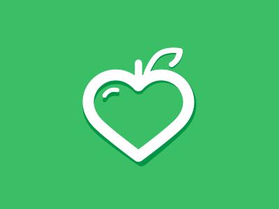 vegelovers vege vegan love social network logo picto