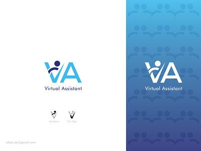Virtual Assistant Logo typography vector assistant logo design brand design brand identity best logo designer 2d graphic design logo idea logo design logo design 2021 virtual logo creative logo modern logo corporate logo icon branding logo