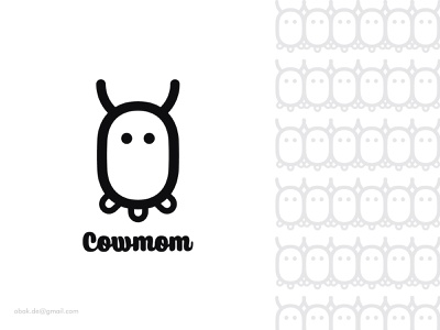 Cowmom LOgo logo design ideas food mom milk logo cute logotype brand dairy logo animal logo cow logo illustration design corporate logo branding brand identity brand design best logo designer 2d