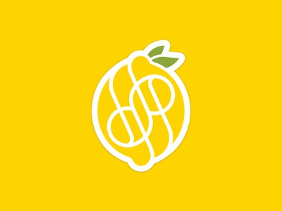 Fresh Personal Branding portfolio graphic design illustration personal branding typography lemon monogram logo personal brand design branding