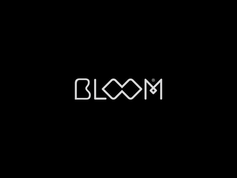 Bloom Studio wordmark logotype floral flower bloom saudi logo arabic logo