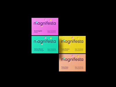 Magnifesta - Print emboss print design brand design circles dubai arabic egyptian envelopes flyers business card party logo confetti logo confetti