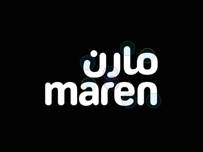 Maren Type Analysis mobile app application logo application soft logo mobile mobile logo bilingual logo bilingual matching logo matchmaking matching soft rounded font analysis arabic logo type logo
