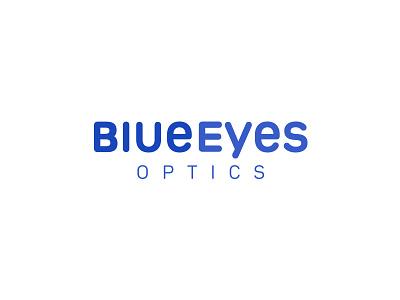 Blueeyes Optics wordmark blue eye logo optics eyes eye saudi arab arabic egypt marque word marque word unicase