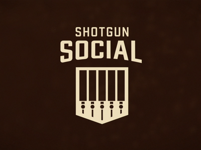 Shotgun Social Brewery brand vector typography animated illustration vector art restaurant motion logo design brewery branding brewery branding brand identity beer animation after effects 2d