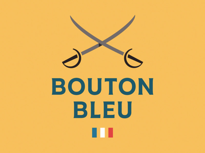 Logo Grid Animation for Bouton Bleu social media guidelines grid tricolor france sword luxury clothing fashion brand identity after effects design logo motion 2d vector typography illustration branding animation