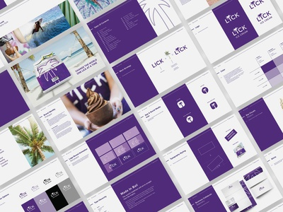 Lick Ice Cream Brand Book ux motion animation ui typography style guide bali manual logo design identity system design system color palette branding brand identity design brand guidelines brand guide brandbook brand