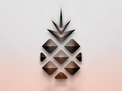 Pineapple NFT icon blockchain bitcoin crypto nft e commerce landing page landingpage tropical pineapple minimal ux ui 2d brand identity vector illustration logo design branding