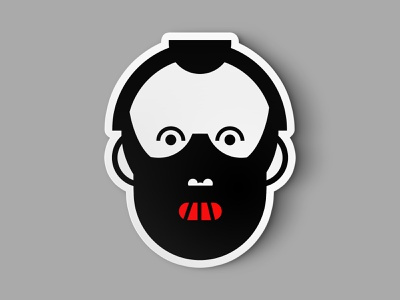 Hannibal Lecter character design character mask animation minimalistic icon vector sticker design illustration logo hollywood movie silence of the lambs hannibal