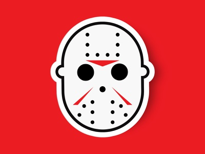 Jason Voorhees friday the 13th horror comic book art jason voorhees comic book comics hollywood illustration logo design icon design sticker vector icon minimalistic animation mask character character design