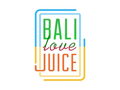Bali Love Juice Logo fnb restaurant love bali icon brand identity organic juice vector typography logo design branding brand logo
