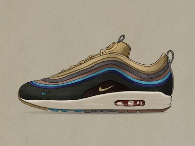 Sean Wotherspoon Air Max procreate illustration illustrator nike air max