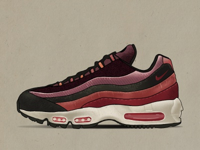 Air Max 95 nike air max illustraion illustrator illustration
