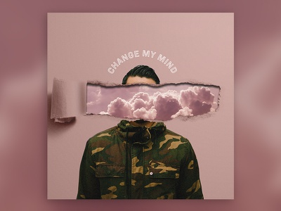 Change My Mind mind heaven christian bible camo clouds pink torn paper