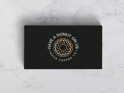 Have a Donut On Us coffee branding typogaphy donut