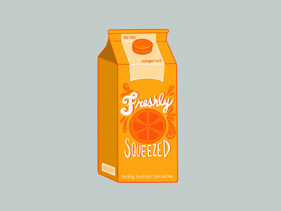 Fresh squeezed clementine procreate illustration juice