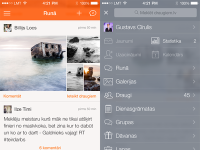 Draugiem for iOS 7