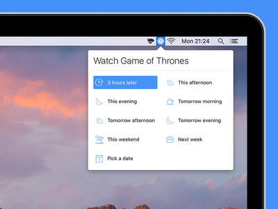 Later for Mac presets popover reminders app mac macos