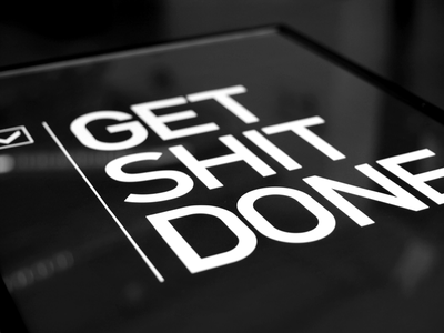 Get Shit Done poster quote frame buy