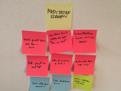 Affinity Map ui meditation ux design interactive health app research interview user affinity map