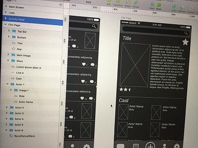 Wireframe Organization design ux ui wireframes user experience user interface organization sketch