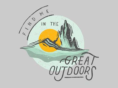 Find Me in the Outdoors utah nature lettering typography sunset sun desert mountain illustration rei optoutside outside outdoors